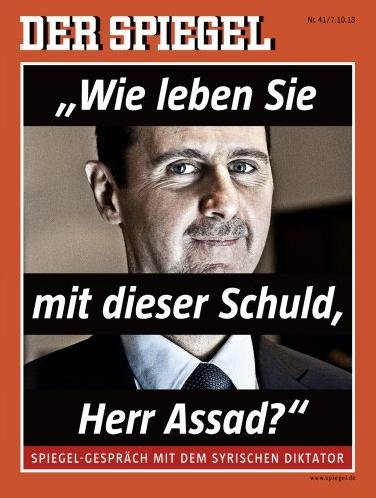 Assad and Der Spiegel Cover
